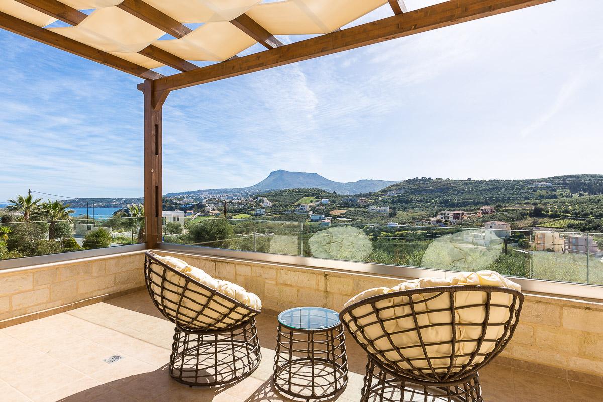 View from mountain villas in Crete - villa rentals in Chania