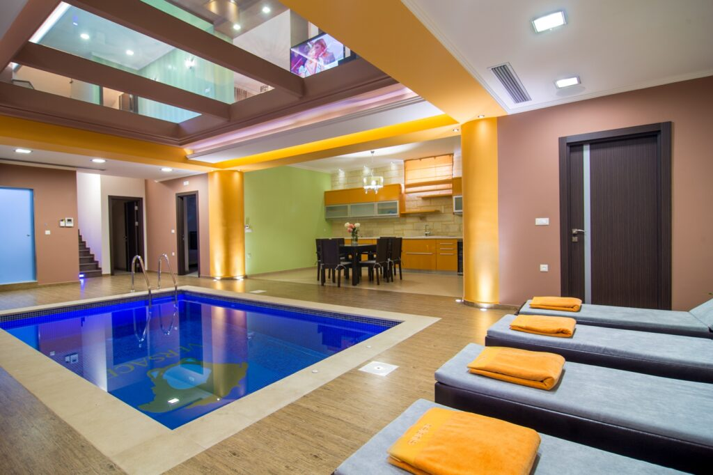 luxury villa in crete with interior pool- pafos ike rent a villa